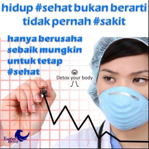 Hidup Sehat bukan berarti tidak pernah sakit